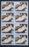 Poštovní známky Paraguay 1988 Umění, Tizian, blok Mi# 4231