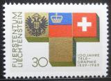 Poštovní známka Lichtenštejnsko 1969 Telegraf, 100. výročí Mi# 517