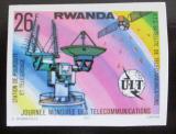 Poštovní známka Rwanda 1977 Telekomunikace neperf. Mi# 879 B