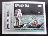 Poštovní známka Rwanda 1980 Průzkum Měsíce neperf. Mi# 1030 B