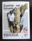 Poštovní známka Rwanda 1988 Červený kříž neperf. Mi# 1406 B Kat 9€