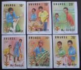 Poštovní známky Rwanda 1983 Aktivity neperf. Mi# 1234-35,1237-40 B Kat 8.50€