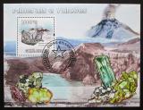Poštovní známka Guinea-Bissau 2009 Minerály a sopka Mi# Block 723