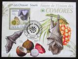 Poštovní známka Komory 2009 Netopýři Mi# Block 532 Kat 15€