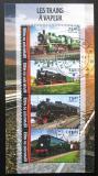 Poštovní známky Niger 2016 Staré parní lokomotivy Mi# 4187-90 Kat 12€