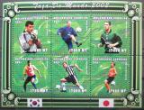 Poštovní známky Mosambik 2001 MS ve fotbale Mi# 1865-70 Kat 10€