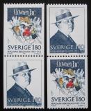 Poštovní známky Švédsko 1983 Hjalmar Bergman, spisovatel Mi# 1249-50