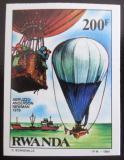 Poštovní známka Rwanda 1984 Létající balón neperf. Mi# 1274 B