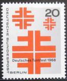 Poštovní známka Západní Berlín 1968 Festival cvičení Mi# 321