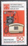 Poštovní známka Západní Berlín 1977 Výstava telefonů Mi# 549