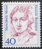 Poštovní známka Německo 1987 Maria Sibylla Merian, malířka Mi# 1331