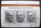 Poštovní známky Německo 1975 Držitelé Nobelovy ceny Mi# Block 11