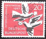 Poštovní známka Německo 1957 Týden psaní Mi# 276