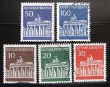 Poštovní známky Německo 1966-67 Brandenburská brána Mi# 506-10