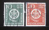 Poštovní známky Západní Berlín 1956 Civilní inženýrství Mi# 138-39