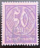 Poštovní známka Německo 1923 Nominální hodnota, služební Mi# 73