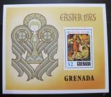 Poštovní známka Grenada 1975 Umění, Botticelli, velikonoce Mi# Block 44