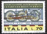 Poštovní známka Itálie 1975 Parní lokomotiva Mi# 1501