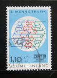 Poštovní známka Finsko 1981 Dopravní konference Mi# 883