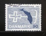Poštovní známka Dánsko 1967 Dánská církev mořeplavců Mi# 466