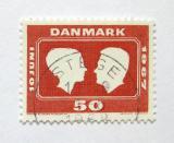 Poštovní známka Dánsko 1967 Královská svatba Mi# 455