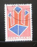 Poštovní známka Dánsko 1969 Abstraktní umění Mi# 486