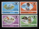 Poštovní známky Ghana 1976 Boj proti slepotě Mi# 658-61 Kat 19€