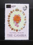 Poštovní známka Gambie 1982 Královská svatba přetisk Mi# 437
