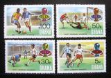 Poštovní známky Ghana 1974 MS ve fotbale přetisk Mi# 581-84