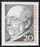 Poštovní známka Německo 1965 Otto von Bismarck Mi# 463