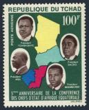 Poštovní známka Čad 1964 Politici Mi# 118