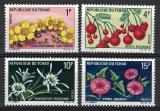 Poštovní známky Čad 1969 Místní flóra Mi# 271-74