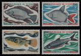 Poštovní známka Čad 1969 Ryby Mi# 282-85 Kat 8€