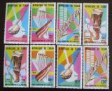 Poštovní známky Čad 1985 Hudební nástroje Mi# 1084-91