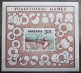 Poštovní známka Tanzánie 1988 Tradiční hry Mi# Block 69