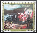 Poštovní známka Čad 1971 Umění, Fontenoy Mi# Block 15