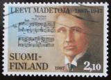 Poštovní známka Finsko 1987 Leevi Madetoja, skladatel Mi# 1014