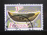 Poštovní známka Faerské ostrovy 1989 Dřevěná loďka Mi# 184