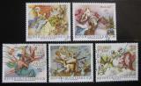 Poštovní známky Rakousko 1968 Fresky Mi# 1278-80,1282-83