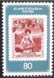 Poštovní známka Lichtenštejnsko 1980 Poštovní muzeum Mi# 750