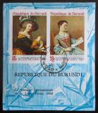 Poštovní známky Burundi 1968 Umění, neperf. Mi# Block 28 B