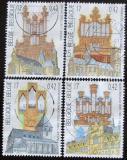 Poštovní známky Belgie 2000 Kostely a varhany Mi# 2977-80