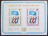 Poštovní známka OSN New York 1975 Výročí OSN Mi# Block 6