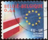 Poštovní známka Belgie 2004 Vlajka Lotyšska Mi# 3345