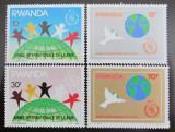 Poštovní známky Rwanda 1986 Mezinárodní rok míru Mi# 1354-57