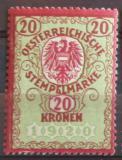 Poštovní známka Rakousko 1920 Revenue, fiskální daně