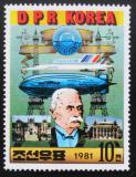 Poštovní známka KLDR 1981 Ferdinand von Zeppelin Mi# 2183