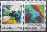 Poštovní známky OSN Ženeva 1989 Meteorologie Mi# 176-77