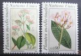 Poštovní známky OSN Ženeva 1990 Léčivé rostliny Mi# 186-87