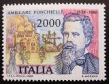 Poštovní známka Itálie 1986 Amilcare Ponchielli, skladatel Mi# 1961